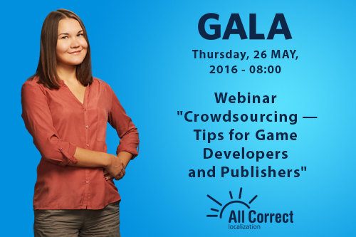 All Correct to share its experience of crowdsourcing in a webinar on the GALA platform