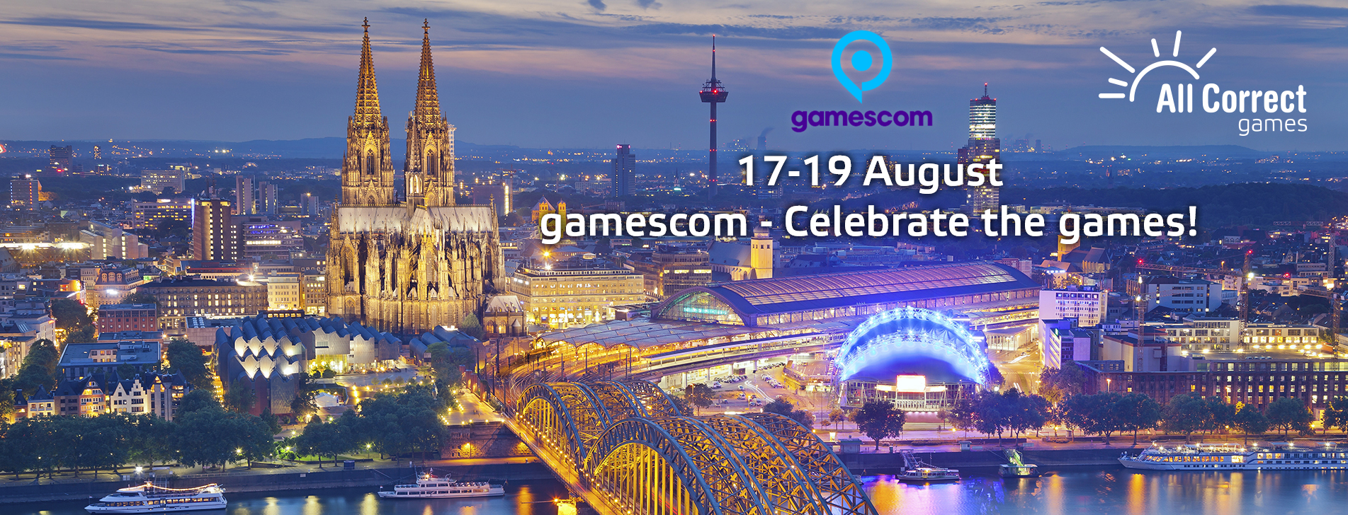 HURRY UP AND ARRANGE A MEETING WITH US AT GAMESCOM